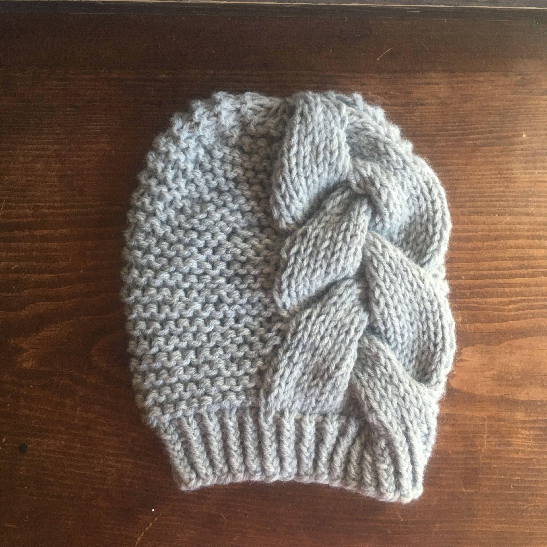 KNITTING PATTERN: Big Braid Beanie   Knitting patterns ...