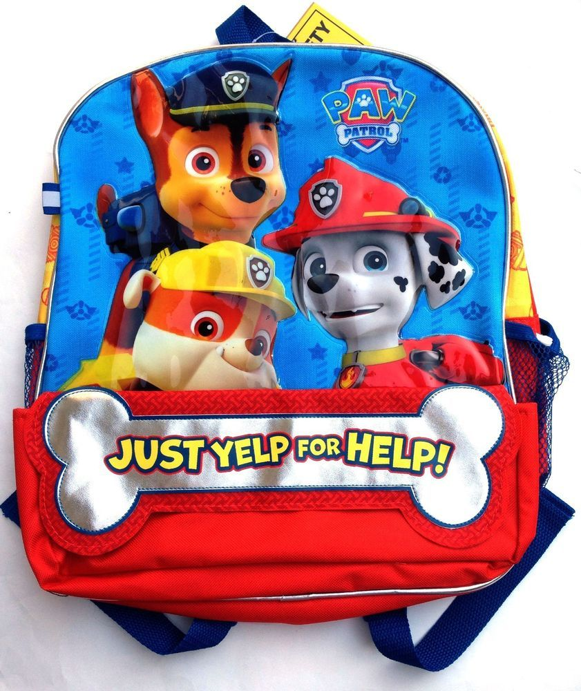 b69b6b65eeb Paw Patrol Backpack Bookbag Just Yelp for Help Chase Rubble Marshall SOLD  OUT  SpinMaster  Backpack