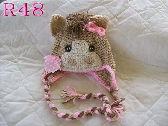 Horse Hat Crochet Pinterest Crochet Horse Photography Props