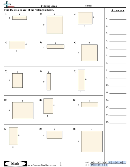 3 Md 7b Worksheets Area Worksheets Perimeter Worksheets Area And Perimeter