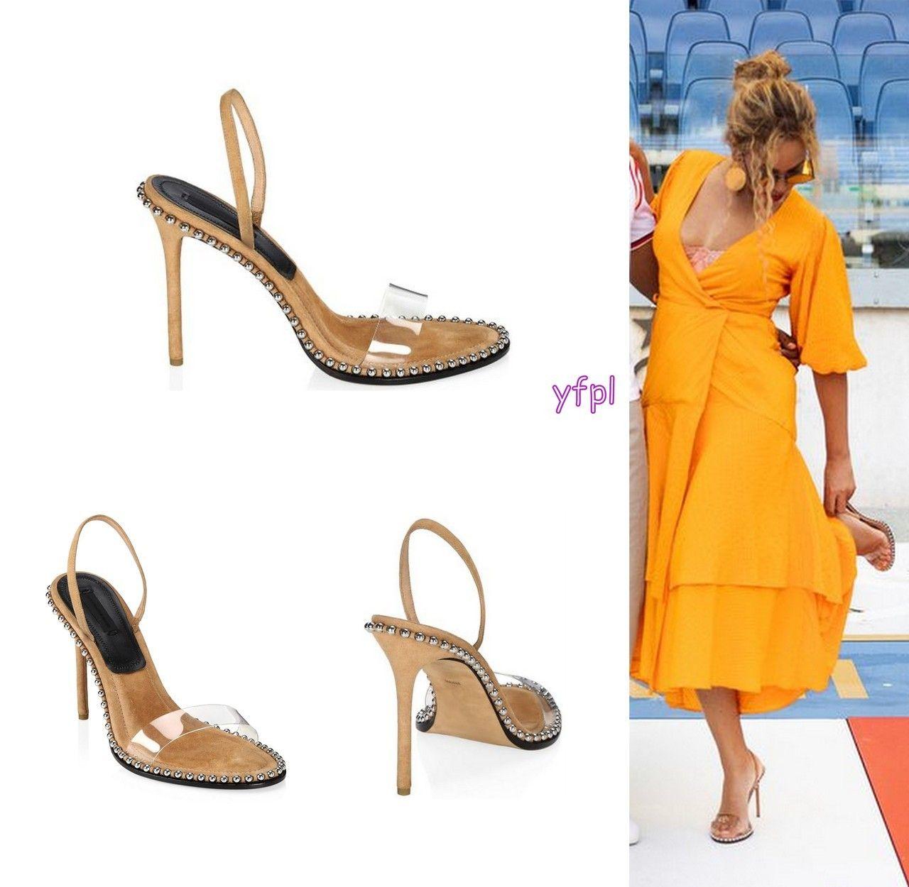 Beyoncé wearing ALEXANDER WANG Nova Studded Stiletto Sandals