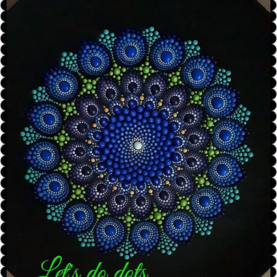 Starting my peacock | Dots | Dot painting, Dot art painting