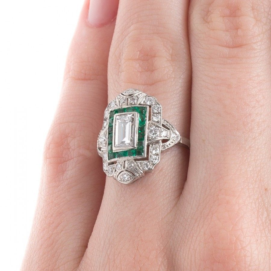 Details about 2.49CT Art Deco New Fashion Emerald Diamond 925 Silver ...