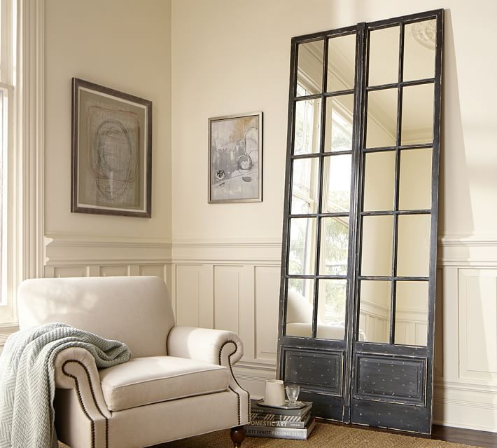 Vintage Paned Mirror | Furniture & Decor | Pinterest | Pottery barn ...