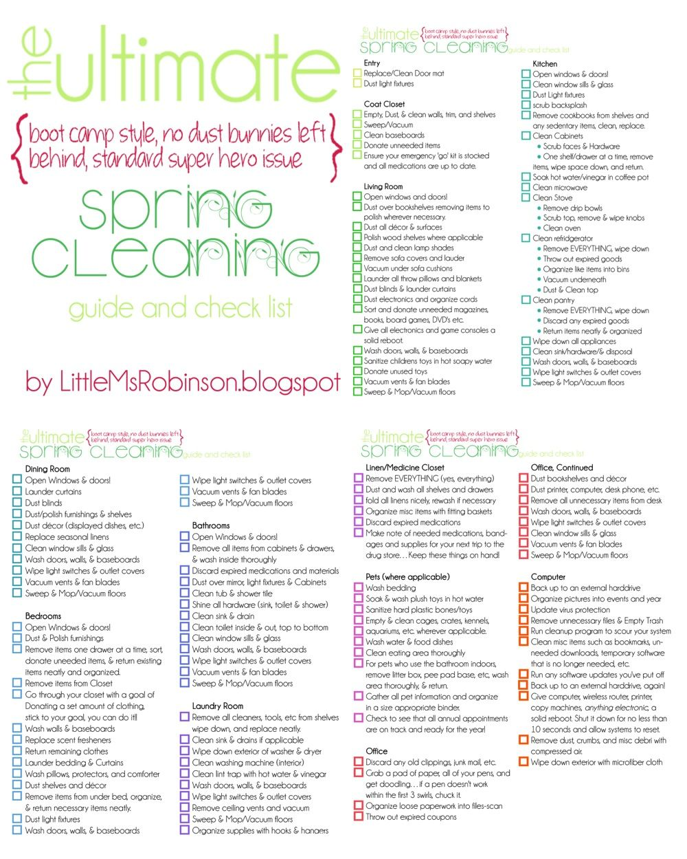 Spring Cleaning Because Cleaning Is More Fun With A Cute List