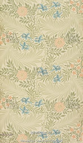 Larkspur wallpaper, by William Morris. England, 1874