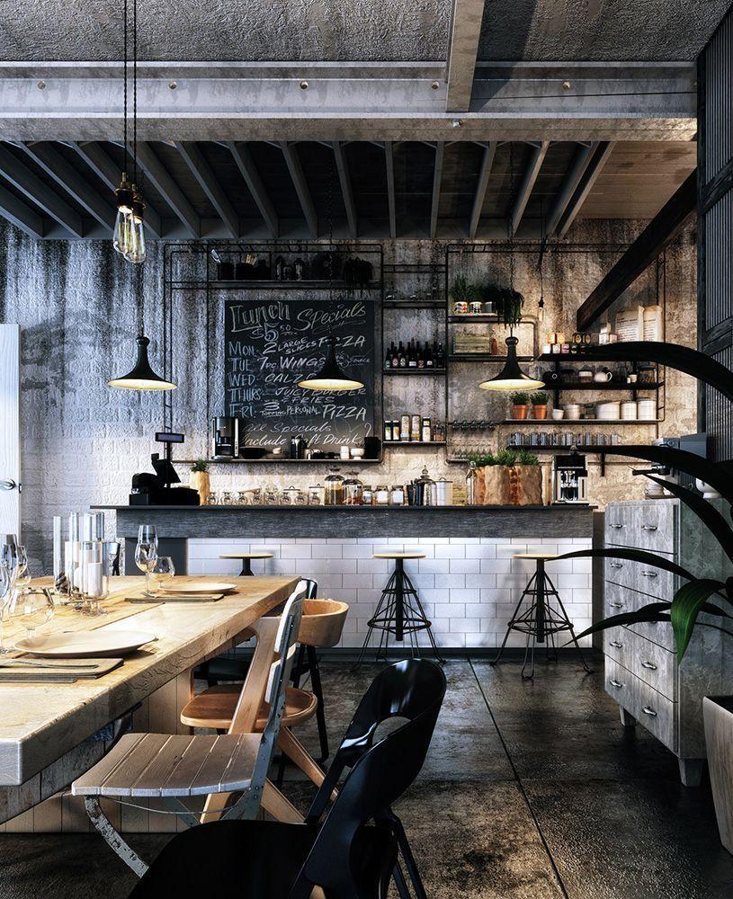 Best Coffee Shop Decoration Idea 58 Cafe Bar Design Loft Cafe Cafe Design