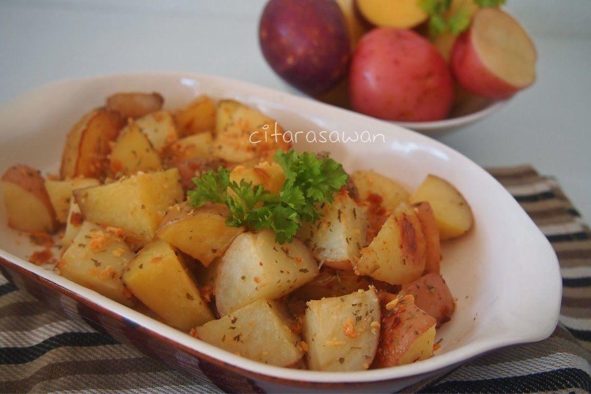 Kentang Panggang Roasted Potatoes Recipes Kentang Panggang Resep Makan Malam Sehat Kentang