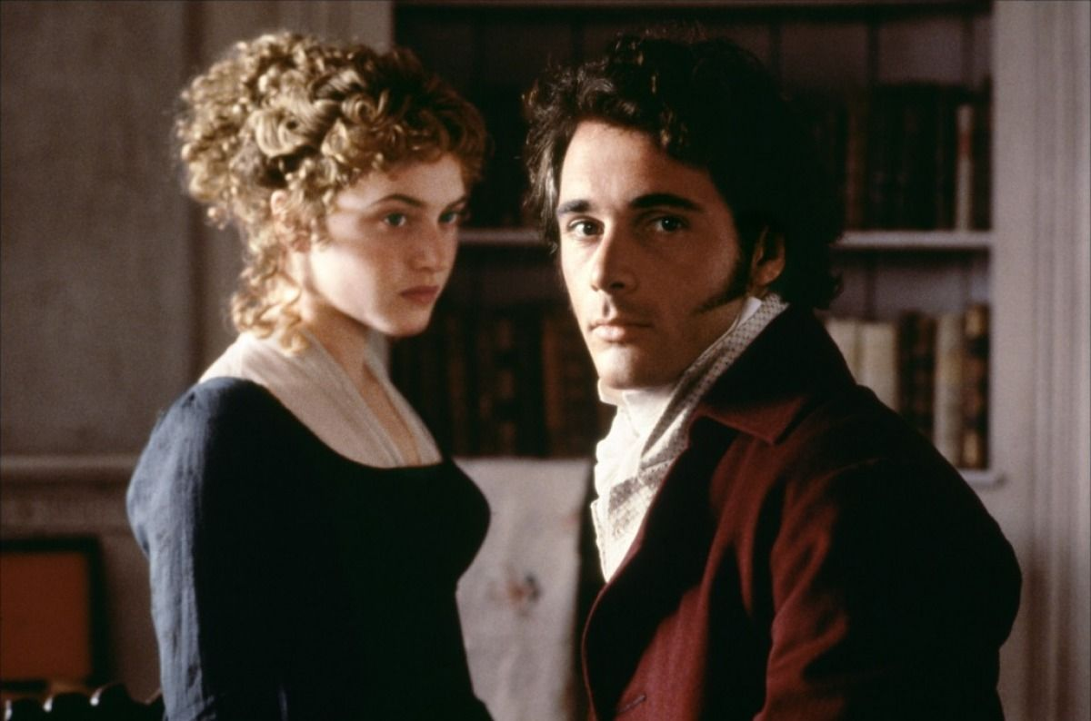 Kate Winslet (Marianne Dashwood) & Greg Wise (John Willoughby) - Sense and Sensibility (1995) #janeausten #anglee