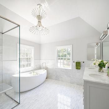 White And Grey Master Bathrooms Bathroom Interior Design White Marble Bathrooms Vinyl Flooring Bathroom