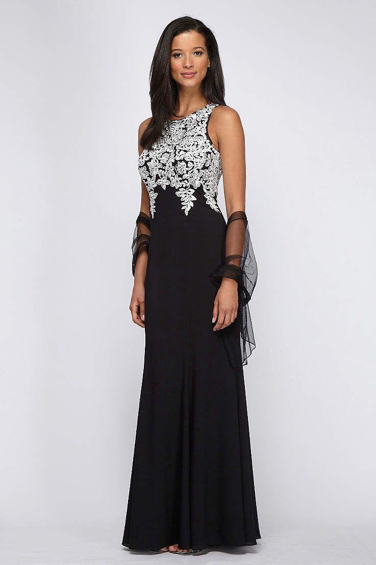 View Long Alex Evenings Dress at David\'s Bridal | Evening Dresses ...