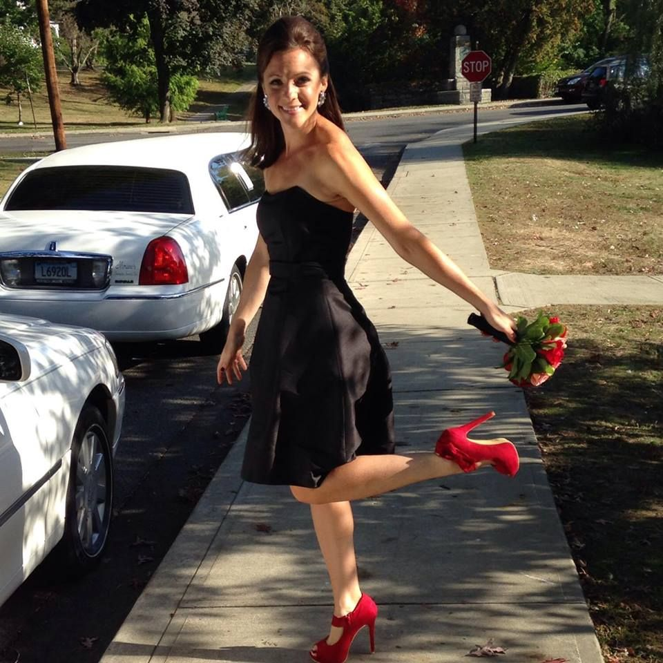 Bridesmaid Style By My Best Friend Tori Red Heels And Little Black Dress The Wedding Party Was Nothing But Clas Little Black Dress Bridesmaid Style Dresses [ 960 x 960 Pixel ]