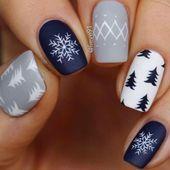 25 beautiful Christmas nails - nail art