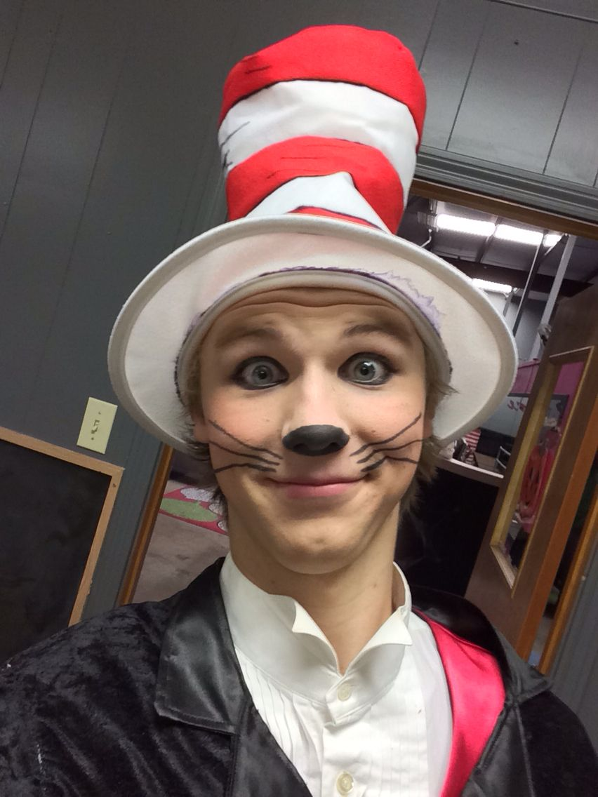 cat in the hat makeup. #seussical | stage makeup | pinterest