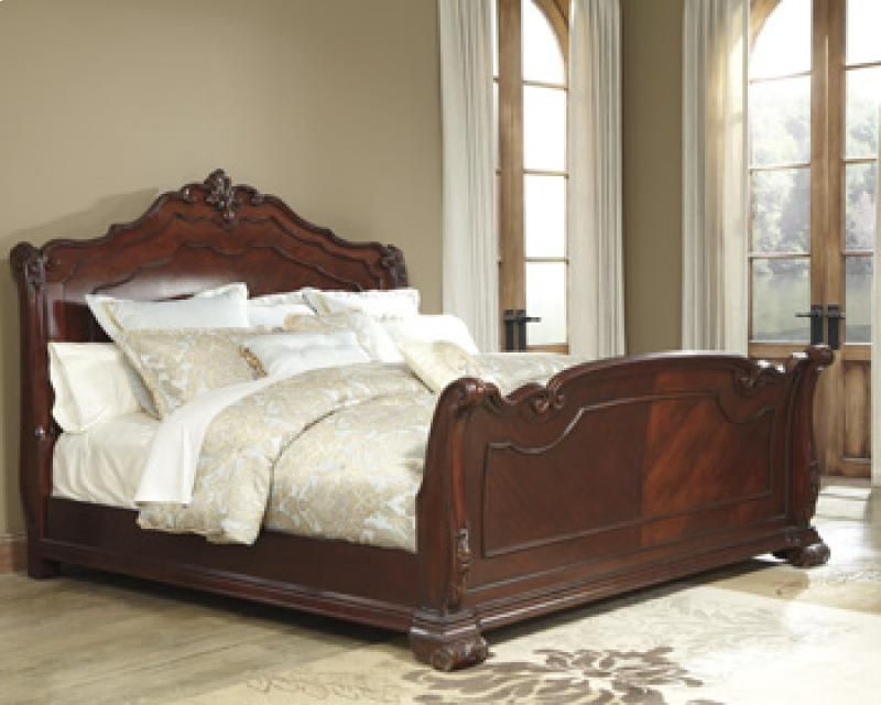 B69876 In By Ashley Furniture In Stockton Ca King Cal King Sleigh Footboard Bed Design Queen Sleigh Bed Sleigh Bedroom Set