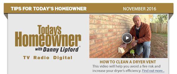 November 2016 Tips for Today's Homeowner
