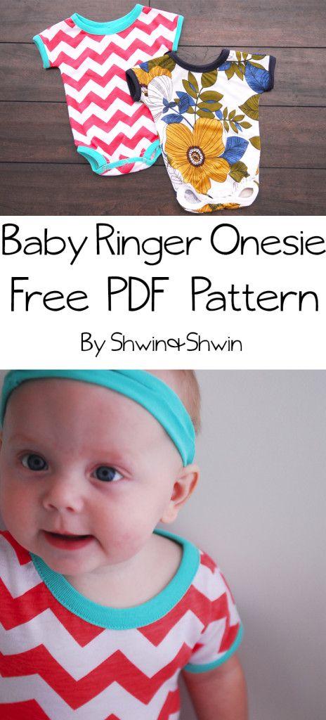 Baby Ringer Onesie || Free PDF Pattern || Shwin&Shwin | Patterns ...