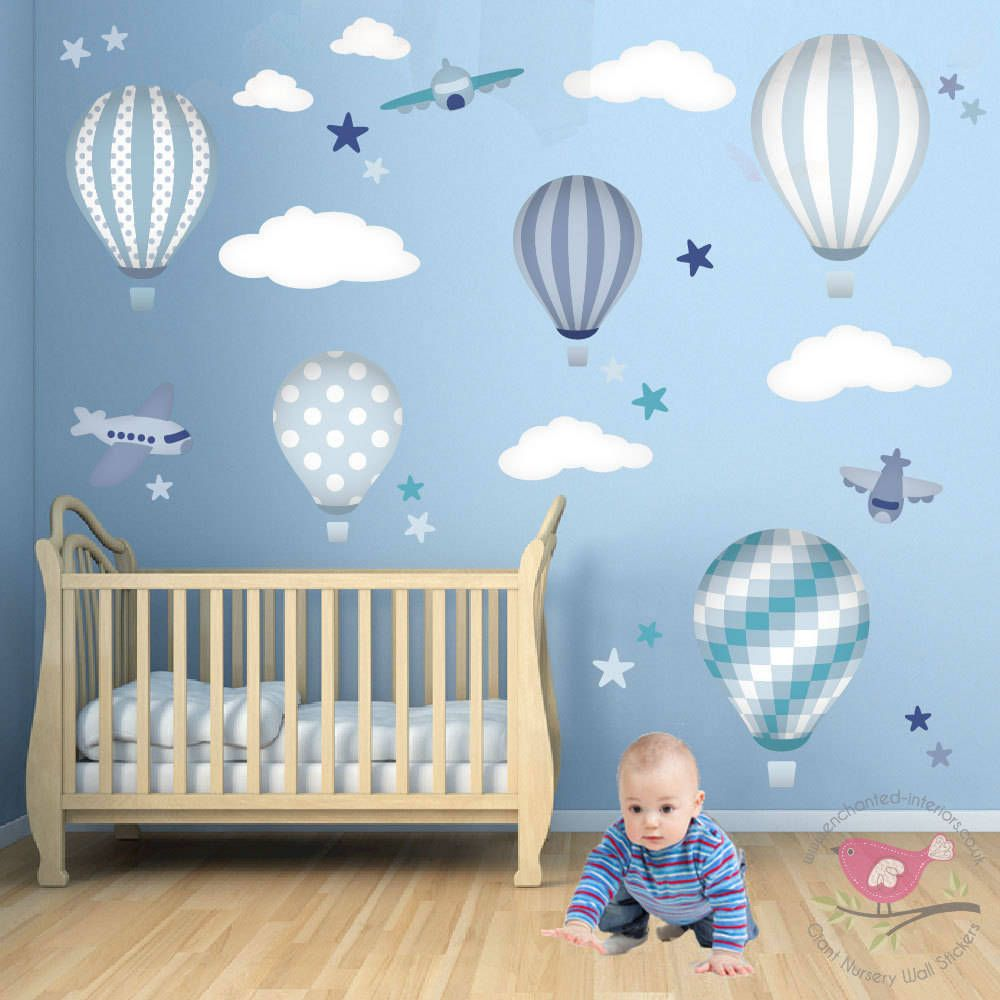 Awesome Baby Boy Cot Bedding Sets Uk Hot Air Balloon   Google Search. Baby Wall  StickersNursery ... Part 30