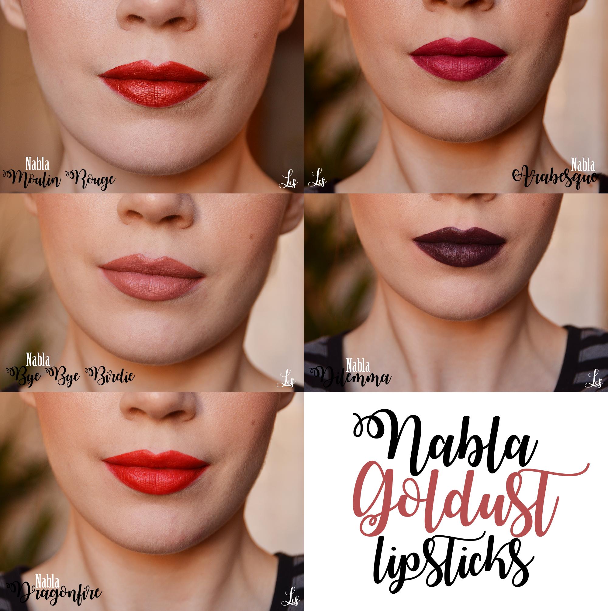 Nabla goldust lipstick swatches make up swatches nel 2019 - Diva crime closer ...