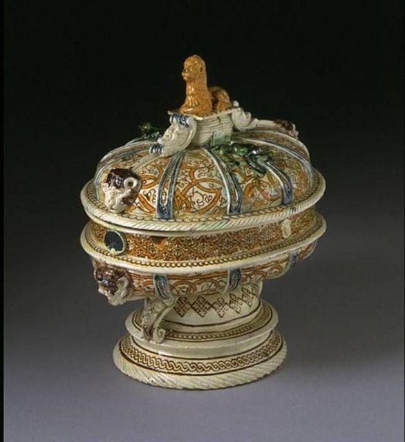 by Huguenot Bernard Palissy (1510 – 1589) - the great Renaissance French Majolica