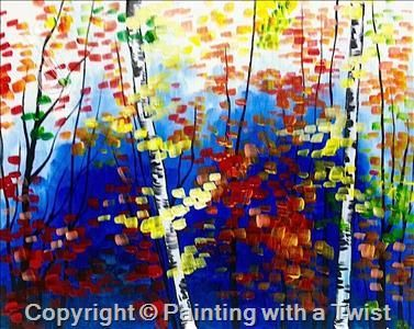 Autumn in the Forest   11/24/2015 - Painting with a Twist, Farmington, MI