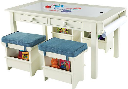 For A Creativity White Table Set W 4 Denim Seats At Rooms To Go Kids Find That Will Look Great In Your Home And Complement The Rest Of Furniture