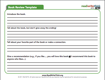 review writing template