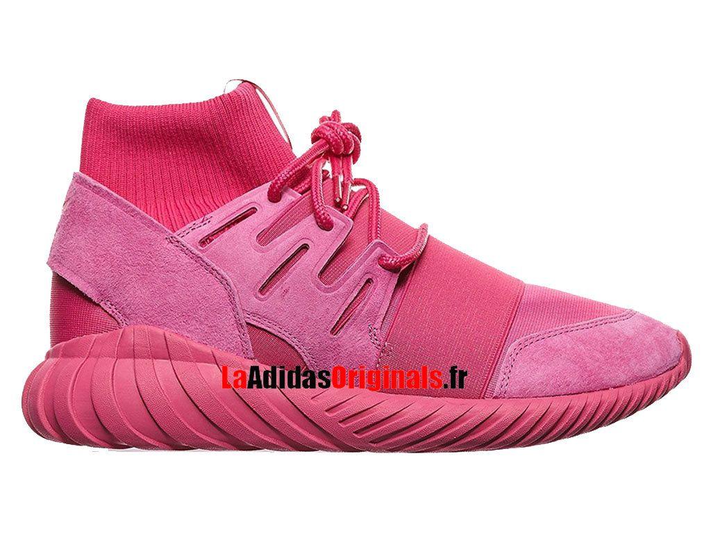 Adidas Originals Tubular Doom - Chaussures Pas Cher Pour Femme Rose  S74795-Boutique Adidas Originals