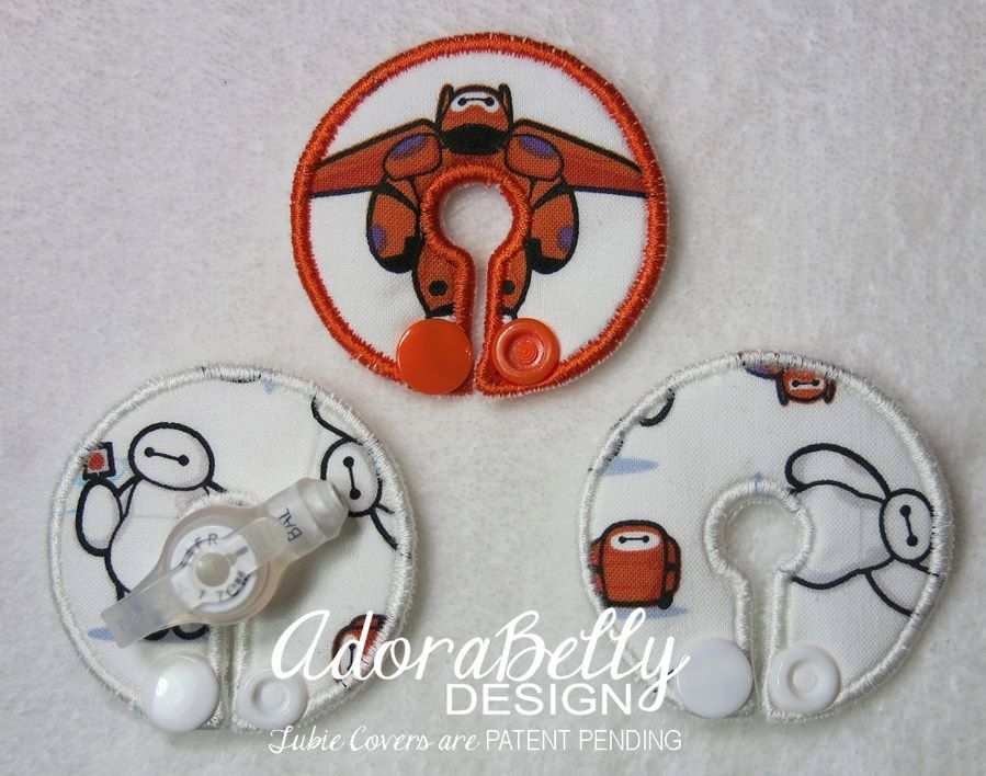 Big Hero 6 Feeding Tube G/J Covers/Pads by AdorabellyDesign on Etsy