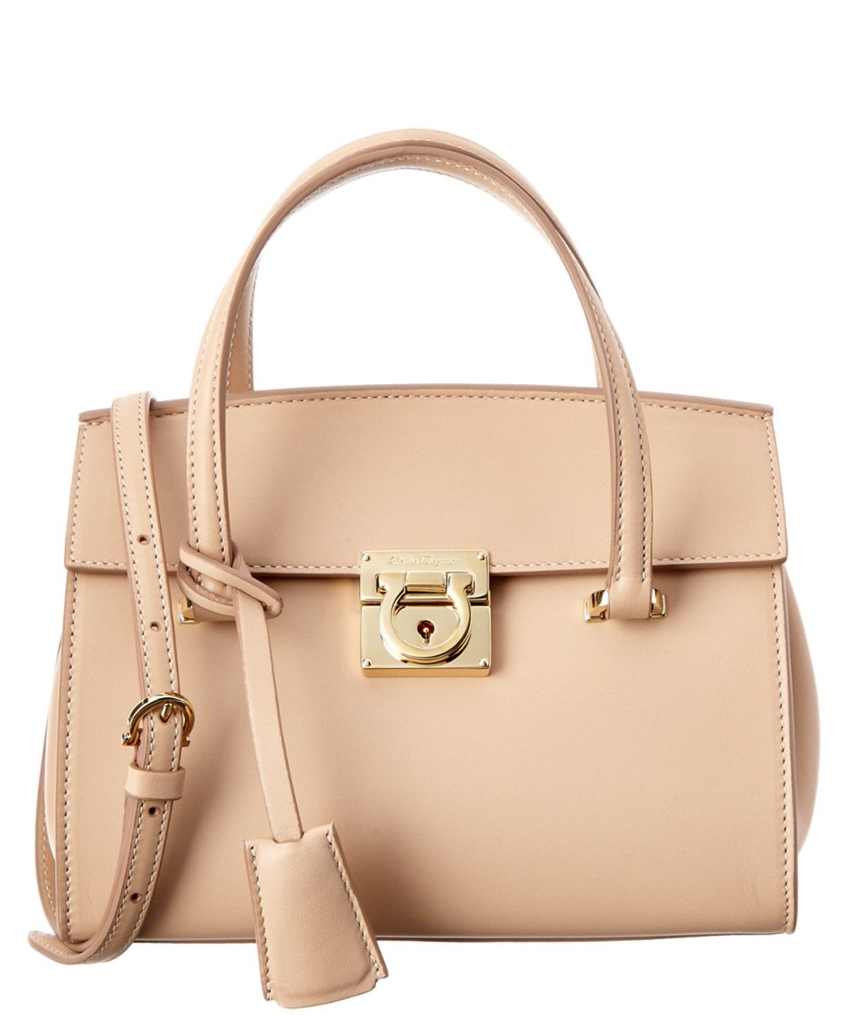 d861e0839868 SALVATORE FERRAGAMO SALVATORE FERRAGAMO MARA GANCIO LOCK SMALL LEATHER  TOTE .  salvatoreferragamo  bags  shoulder bags  hand bags  leather  tote   lining