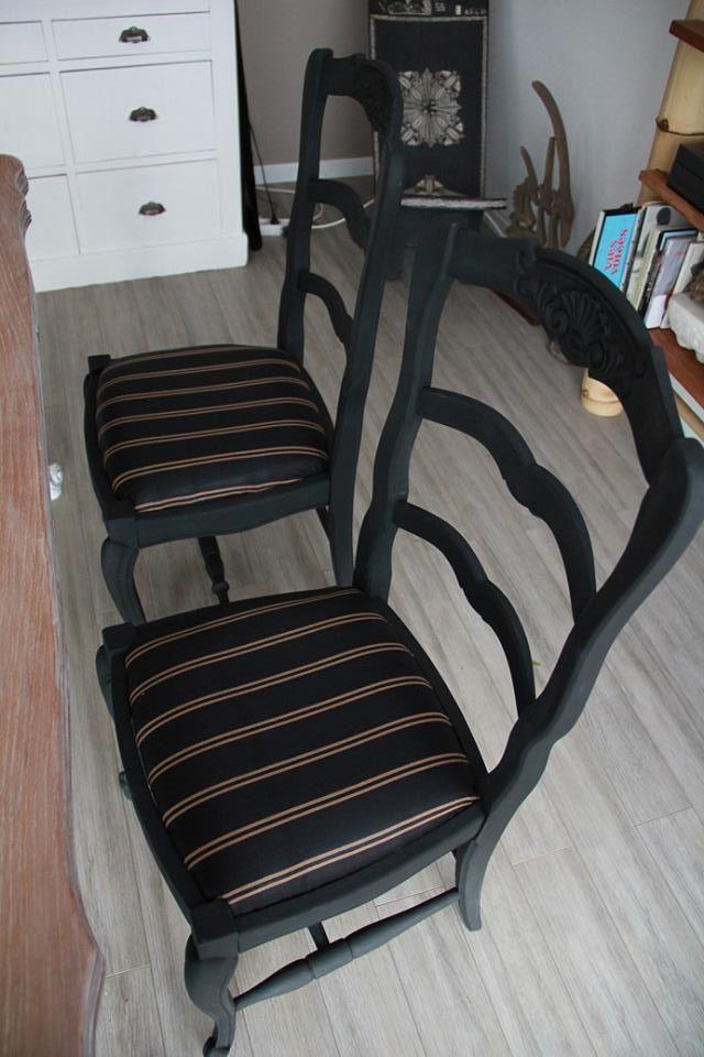 relooking chaises par FD  Ides pour la maison  Relooking de mobilier Customiser chaise