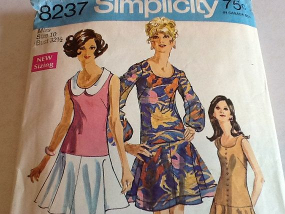 Simplicity Women's Dress Pattern by ThePuppyDogTails on Etsy
