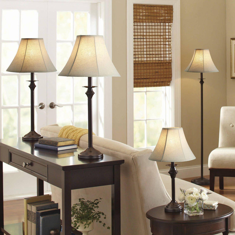 Better Homes And Gardens 4 Piece Lamp Set 44 Free Shipping Go To Walmart Com Living