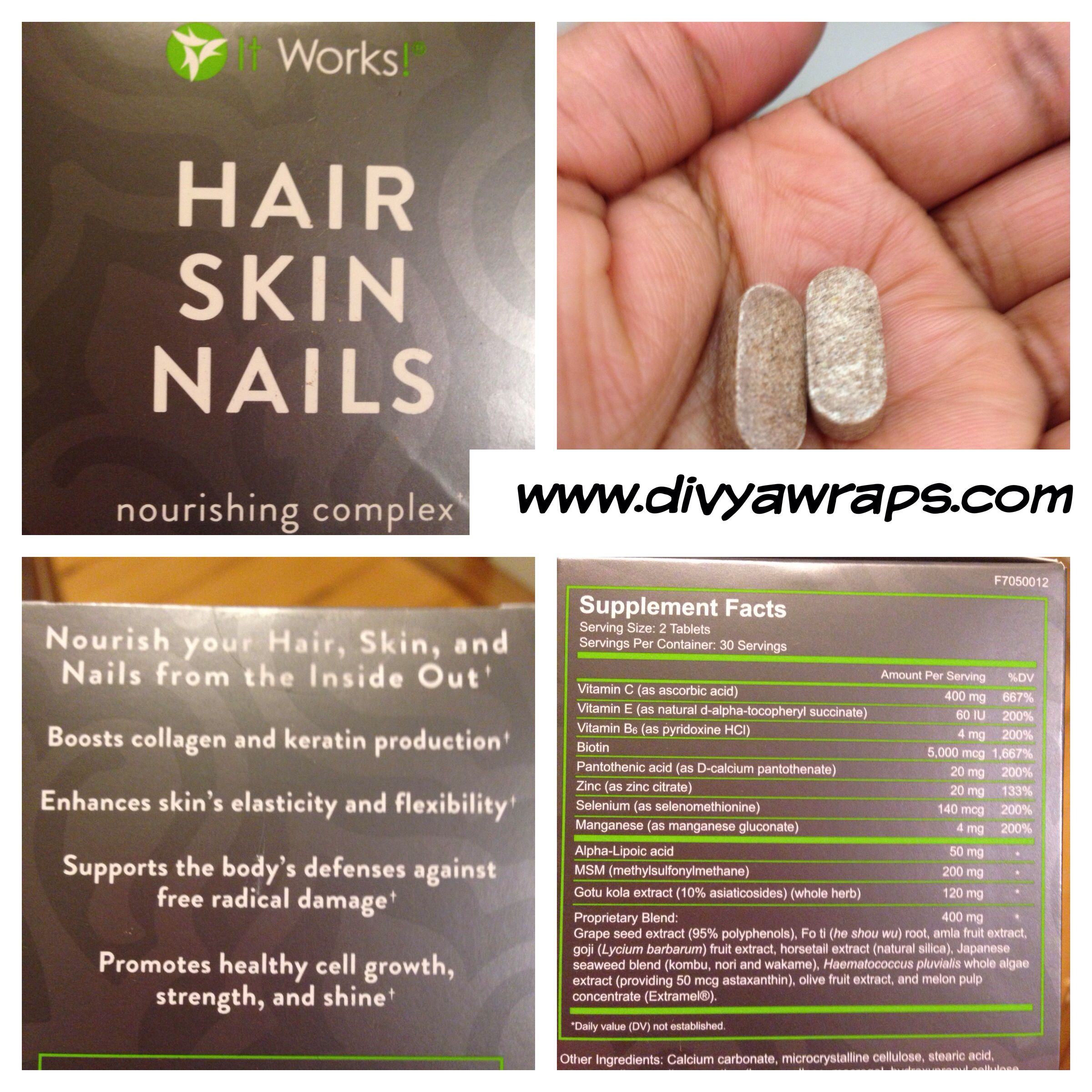 It Works Hair Skin & Nail Vitamins! | cabello roxy ...