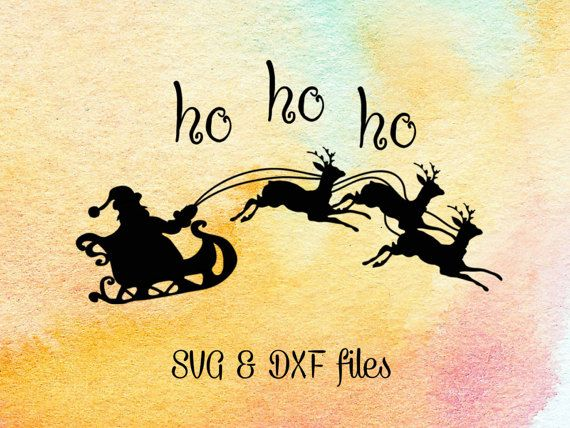 merry christmas santa ho ho ho svg dxf cutting files svg and dxf files for cutting machines you will receive 2 files 1 svg file compatible with - Santa Hohoho 2