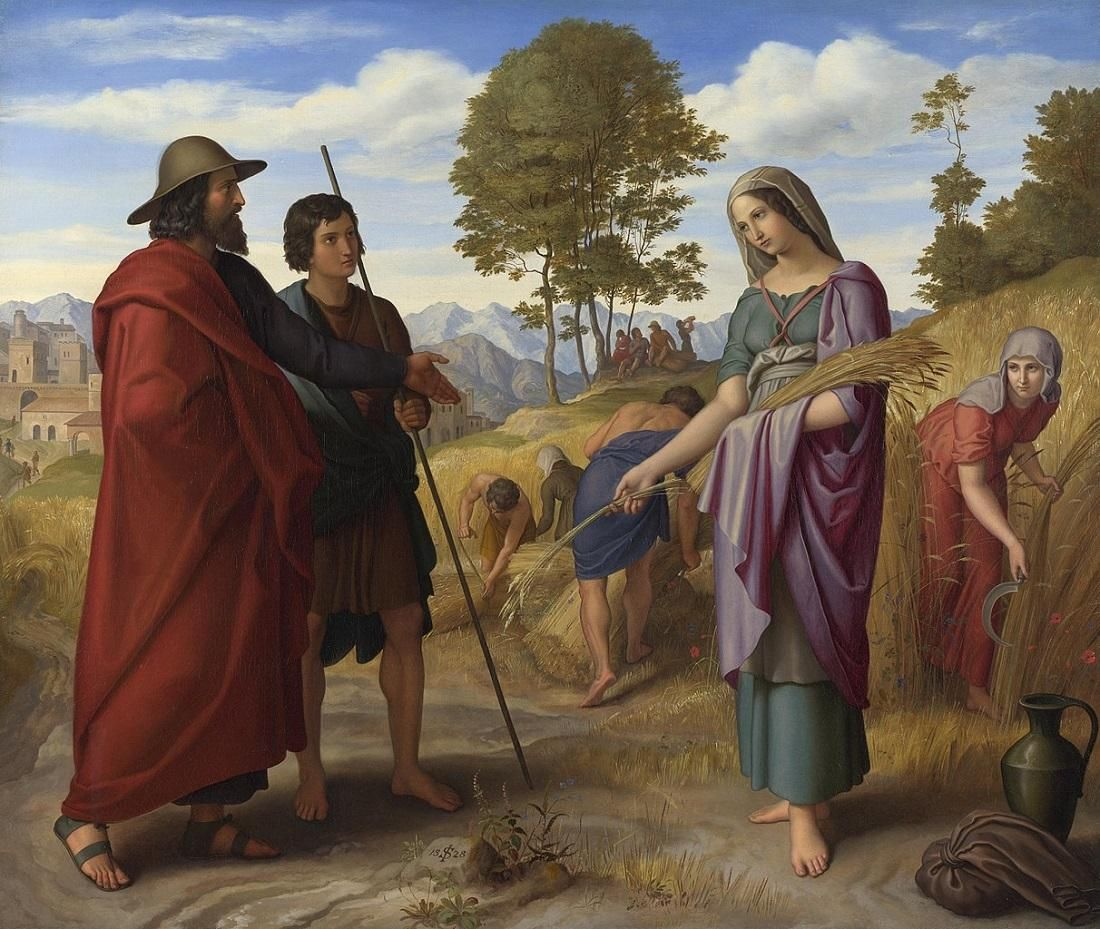 REUNION OF JACOB /& ESAU OLD TESTAMENT TORAH PAINTING BIBLE ART REAL CANVAS PRINT