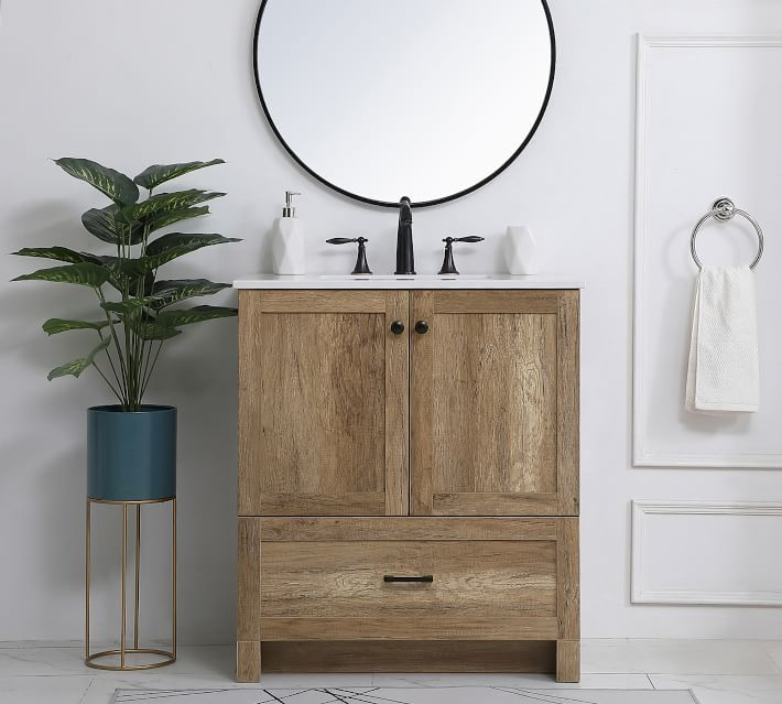 Alderson 30 Single Sink Vanity Pottery Barn In 2020 Single Sink Vanity Bathroom Vanity Single Bathroom Vanity