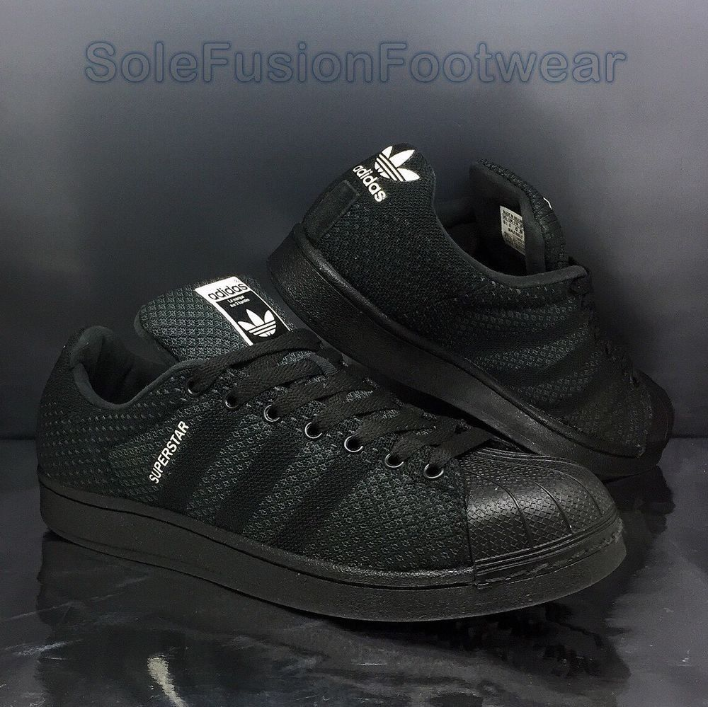 a1e95fe6d4d973 adidas originals Mens Superstar Weave Black Trainers size 8 Sneaker US 8.5  EU 42 | eBay