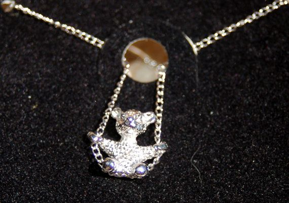 Swinging bear necklace sarah cov