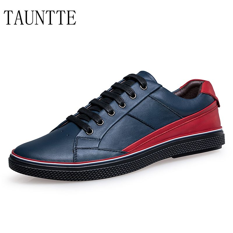 Tauntte Winter Plus Size Men Cow Leather Shoes Korean Lace Up Casual Shoes  #Affiliate