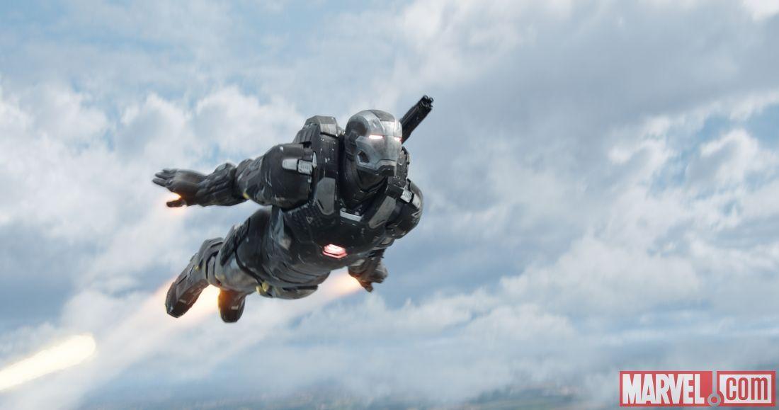 War Machine (Don Cheadle) soars in Marvel's 'Captain America: Civil War.'