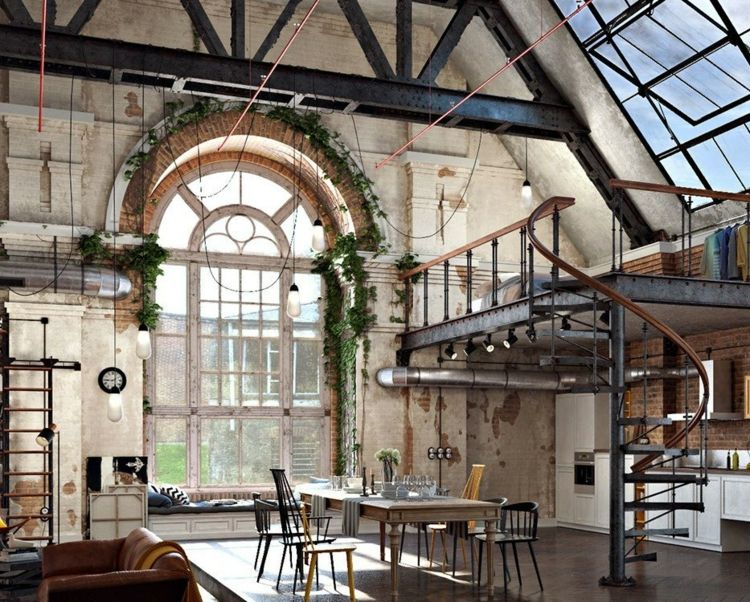 Industrial Design im Interieur – Einrichtungsbeispiele in Bildern für den unverwechselbaren Style #industridesign
