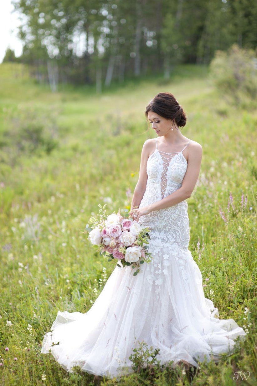 Persy bridal gowns from Blush & Raven captured by Calgary wedding ...
