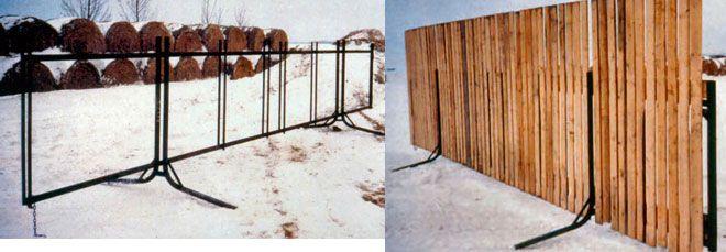 Portable Windbreak Fences