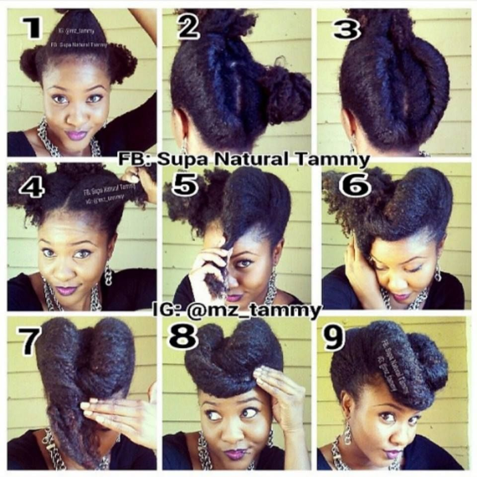 Soo Cute I Did This With My Relaxed Hair Before My Big Chop Perhaps If I Grow My Hair Out Again I Can D Hair Styles Natural Hair Updo Beautiful Natural Hair