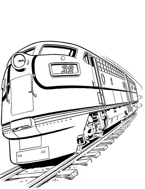 Set Of Diesel Train And On Railroad Coloring Page Color Luna Train Coloring Pages Coloring Pages Coloring Pages For Teenagers