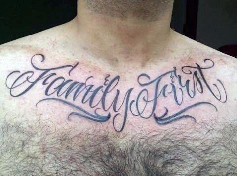 90 Script Tattoos For Men - Cursive Ink Design Ideas ...