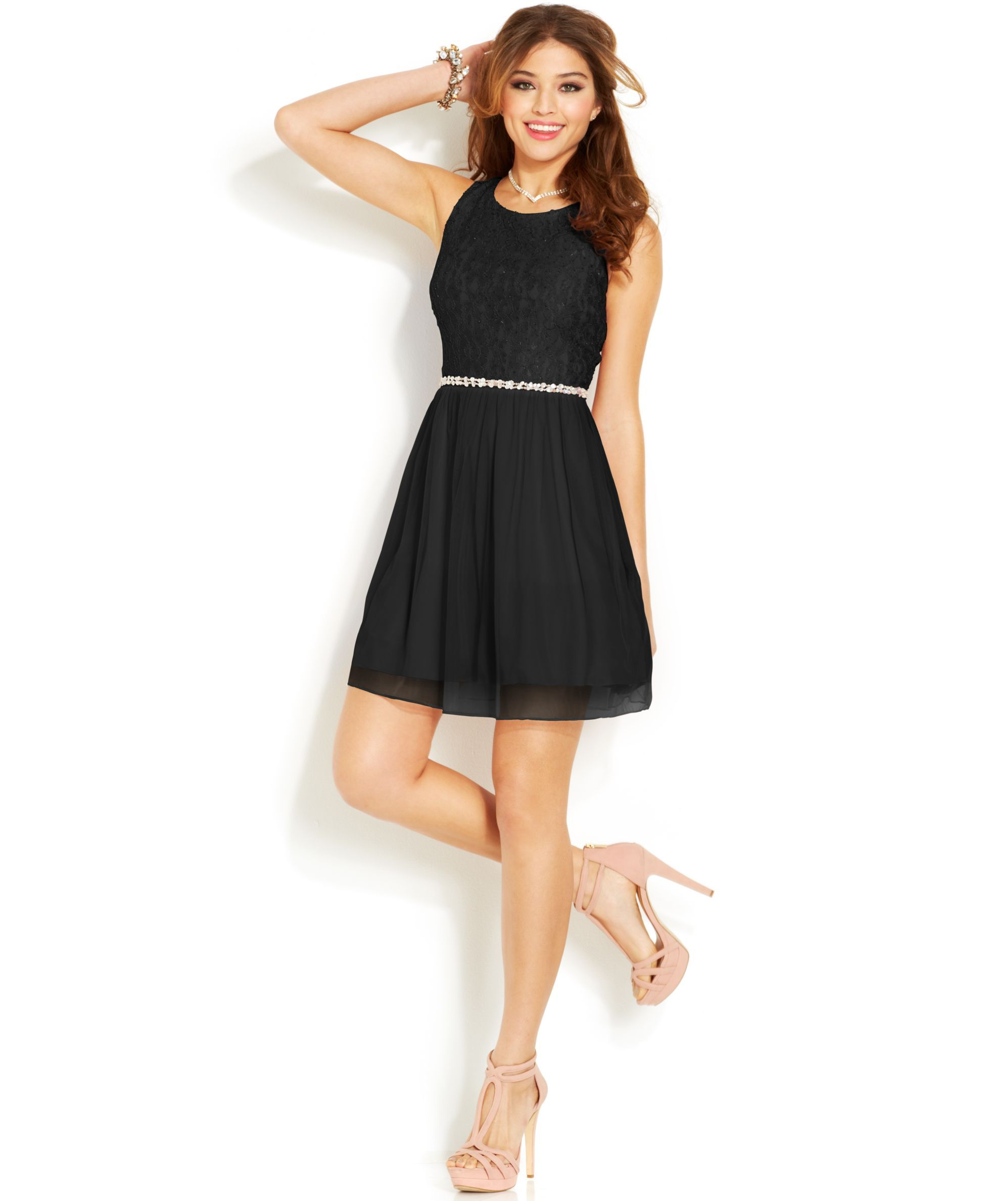 Speechless Juniors' A Line Dress - Juniors
