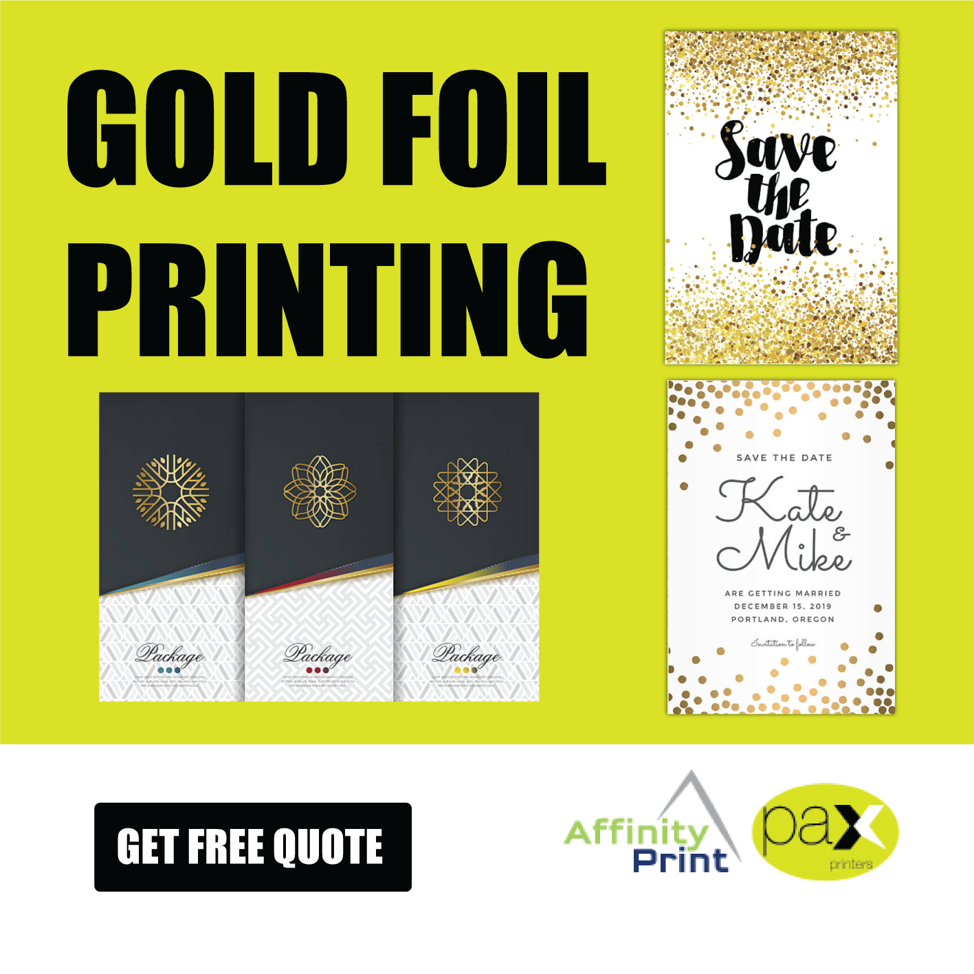 Give a dazzling look to your business with an attractive foil
