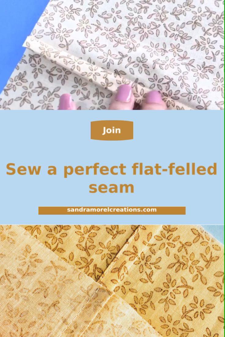 Easy way to make a flat-felled seam